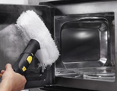 Higienização de cozinha com vapor