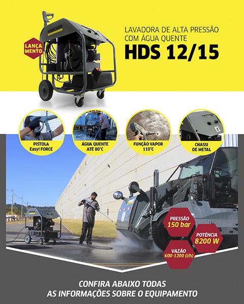 Lavadora de Alta Pressão com Água Quente HDS 12/15 Cage New Karcher
