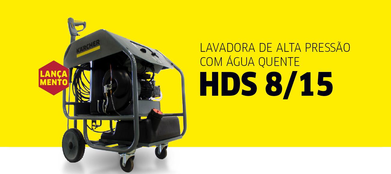 Lavadora de Alta Pressão com Água Quente HDS 8/15 Cage New Karcher