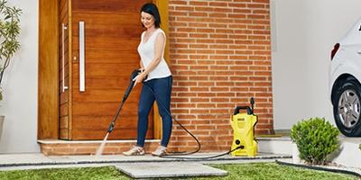 Limpeza de quintal, varandas ou calçadas