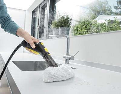 limpeza de cozinha com vapor